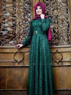 Floral Dress - Green - Pınar Şems