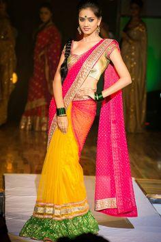 multicolour-designer-half-and-half-saree-bhargavi-kunam