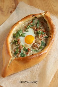 Turkish Minced Meat Pita @ BitterSweetSpicy - need to substitute gluten free flours World Recipes, Meat Recipes, Cooking Recipes, Savoury Recipes, Pide Recipe, Turkish Pizza, Minced Meat Recipe, Mince Meat, Eastern Cuisine