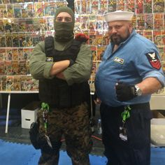 The fellas at Superworld Comics got in on the #cosplay action dressed as #Beachhead and #Shipwreck! #GIJoe #ARealAmericanHero  #NYCC #NYCC15 #NewYorkComicCon #NewYorkComicCon2015 #cosplayers