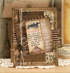 masculine card.. lots of layers and an old jalope