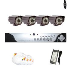 "Complete 4 Channel CCTV H.264 DVR (500G HDD) Surveillance Security System Package with (4) Pack of 600TVL 1/3"" Sony CCD WDR 3.6mm Lens, 48pcs IR LED, 131 ft IR Distance Outdoor Security Camera by Gw. $650.00. Package includes:      GW9104V - 4 channel network DVR with 500 GB HDD;     CD with manual and software;      4 x GW612WD - 1/3"" SONY CCD WDR Cameras;     1 x GW100CAW: 100 feet pre-made cable BNC;     2 x GW60CAW: 60 feet pre-made cable BNC;     1 x GW25CAW: 2..."