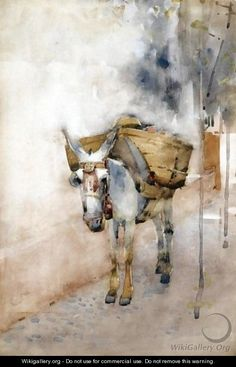 "Arthur Melville (Scottish, 1858–1904)  ""The Arab Donkey"""