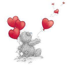 Tatty Teddy heart balloons