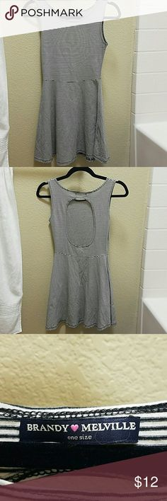 Brandy Melville Striped Open Back Dress Super cute open back skater dress. Worn once. Open to offers. Brandy Melville Dresses