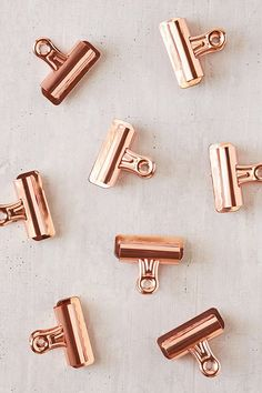 Rose gold bulldog clips urbn outftrs