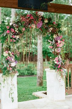A Wedding Planners Rustic, Romantic Texas Wedding, Lush Ceremony Structure | Brides.com