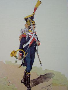Cornet de voltigeurs 7e Léger 1809