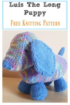 Luis The Long Puppy Free Knitting Pattern