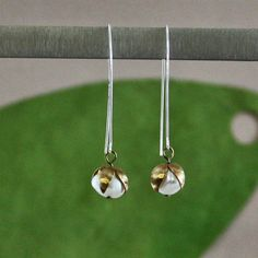 Brass Lilly of the Valley Earrings by lsad on Etsy, $38.00