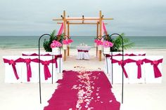 Beach Wedding Ceremony Decorations. i want this but in purple