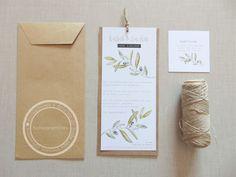 Una propuesta sencilla, moderna y elegante para las invitaciones de vuestra boda.  Diseño de Tu día Con Amor