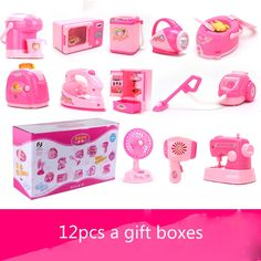 (61.59$)  Watch here - http://ainf6.worlditems.win/all/product.php?id=32794682834 - Baby Play House Home Appliance Electric Music Furniture Accessories Simulation appliances series Toy Suit Set For girls Gift