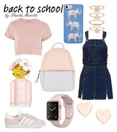 """""""School Style by Paola Moretti"""" by paola-moretti on Polyvore featuring Jean-Paul Gaultier, Topshop, adidas, Calvin Klein, Tory Burch, Ted Baker, Accessorize and Marc Jacobs"""