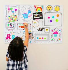 Erasable Frames Wall Decal. This cool frames kids room wall decal lets your kids draw and erase to draw over and again!