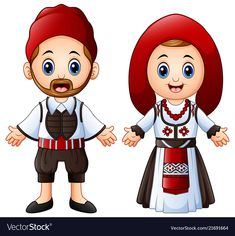 Vector illustration of Cartoon Greeks couple wearing traditional costumes , Free Vector Images, Vector Free, Disney Characters Costumes, Costumes Around The World, Retail Logo, Disney Cosplay, Sewing Projects For Beginners, Illustration, Royalty