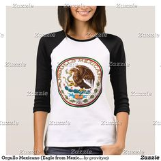 Orgullo Mexicano (Eagle from Mexican Flag) T-Shirt - Orgullo Mexicano  Women's T-Shirt VIVA MEXICO! Also available on tank tops and hoodies for men and kids, too!