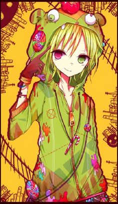 anime heterochromia / odd eyes pink green (Nutty Happy Tree Friends)