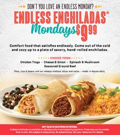 Endless Enchiladas Mondays!