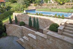 Mur de soutènement en pierre / modulaire / pour mur / pour clôture de jardin - VERTICA® - Rinn Beton- und Naturstein Stadtroda GmbH