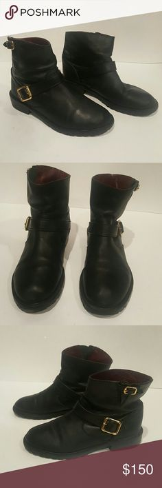 Marc Marc Jacobs black leather 36.5 ankle booties MARC MARC JACOBS BLACK LEATHER 36.5 ANKLE BOOTIES WOMENS BOOTS GREAT SHAPE SOME WEAR LOTS OF LIFE LEFT Marc by Marc Jacobs Shoes Ankle Boots & Booties