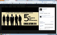 5 Stages of Revenge is a project i'm working on with a friend, Facebook is a key website towards advertising.