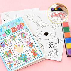 8 unids/lote Kids Toy Anime Dibujo Conjunto de Tarjetas Pegatinas Diy Para Colorear libros para Niños del Dibujo del Agua Libro Mano Spinner Juguetes para niños