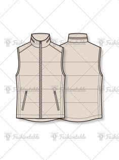 패딩 베스트 패션 도식화 Flat Sketches, Tech Pack, Fashion Vocabulary, Drawing Clothes, Technical Drawing, Fashion Flats, Fashion Sketches, Designs To Draw, Sewing Patterns
