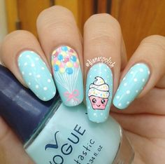 10 Creative Nail Designs for Short Nails to Create Unique Styles Girls Nail Designs, Crazy Nail Designs, Creative Nail Designs, Nail Art Designs, Birthday Nail Art, Birthday Nail Designs, Unicorn Nails Designs, Unicorn Nail Art, Cupcake Nail Art