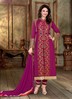 Achkan Style Violet with Butta Work Incredible Unstitched Salwar Kameez