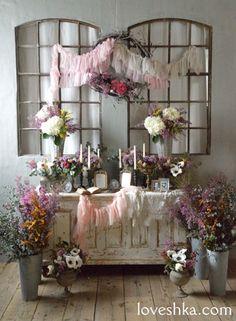 ゼクシィ掲載 / 人前式 / 祭壇 / アンティーク / シャビー / ウェディング / 結婚式 / wedding / オリジナルウェディング / プティラブーシュカ / トキメクウェディング