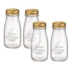 Bormioli Rocco Quattro Stagioni Glass 13.5 Ounce Bottle, Set of 4
