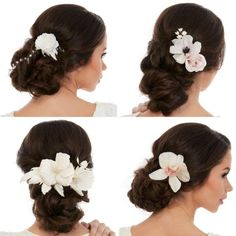 Bridal Hair Accessories - Wedding Dresses by Reverieee Bridal Hair Flowers, Silk Flowers, Wedding Dress Accessories, Wedding Dresses, White Silk, Girl Hairstyles, Crochet Hats, Trending Outfits, Hair Styles