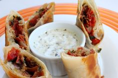 Italian Egg Rolls & Pesto Ranch Dipping Sauce | The Simple Treat
