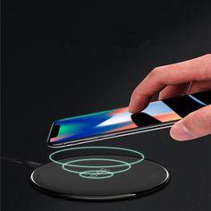 Vezeték nélküli töltő iPhone X 8 8 Plus és Samsung Galaxy S7 / S8 / S8 / S6edge készülékekhez Charger, Samsung Galaxy, Electronics, Iphone