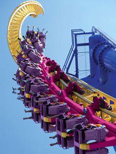 Curse of Voodoo roller coaster, Dorney Park, Pennsylvania