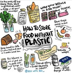 Low waste living Easy hacks to store your food plastic free and give your produce longer life. Live zero waste for low impact on our environment How To Store Potatoes, Reduce Reuse Recycle, How To Recycle, Plastic Waste, Plastic Recycling, Plastic Wrap, Plastic Bags, Plastic Canvas, Sustainable Living