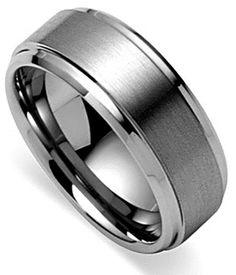 KING WILL BASIC™ 8MM BAND WITH BRUSHED FINISH AND STEPPED EDGE