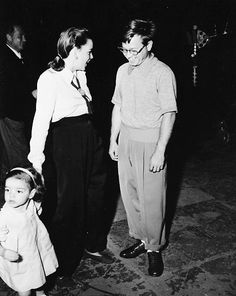 Judy brings her daughter Liza to see Mickey Rooney on the set of Words and Music, 1948.