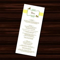 Wedding g Menu for Karen W - @jujubeedesign- #webstagram