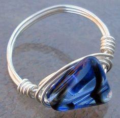 art glass ring