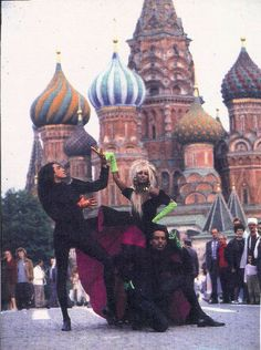 """Adrian Alicea, mega-model Iman, and Willi Ninja """"Throwin' Shapes"""" for Thierry Mugler, Moscow Russia 1990 Vogue Dance, Paris Is Burning, Blitz Kids, Balenciaga Dress, Queen Of Everything, New Romantics, Thierry Mugler, Dance Fashion, The Godfather"""