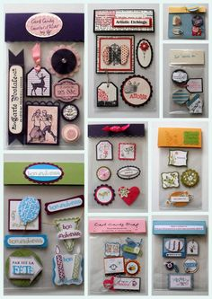 make your own scrapbook embellishments to give Card Candy