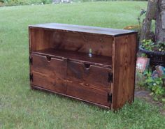 3 Foot Wide Reclaimed wood Storage bench TV by USAcreations, $300.00
