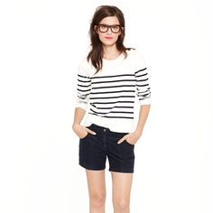 Corduroy short - i think i just like this model.  i'm pinning about everything she wears.  j.crew