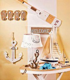 Anchor/flip flops/boating interior decor!