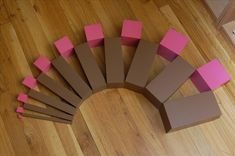 Pink Tower and Brown Stair Extensions Montessori Kindergarten, Montessori Classroom, Montessori Activities, Classroom Ideas, Some Ideas, Extensions, Homeschool, Projects To Try, Tower