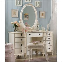 Charmant Bedroom Makeup Vanity | Lea Emmas Treasures Large Bedroom Vanity With  Optional Mirror And .