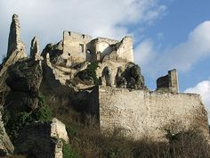 Burgruine Dürnstein is a ruin of a castle in Lower Austria, Austria. Austria, Lichtenstein Castle, Heart Of Europe, Tourist Information, Monument Valley, Mount Rushmore, The Good Place, Mountains, Architecture
