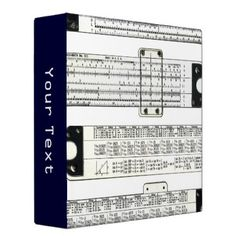 #Slide Rule 3 Ring Binder - #office #gifts #giftideas #business